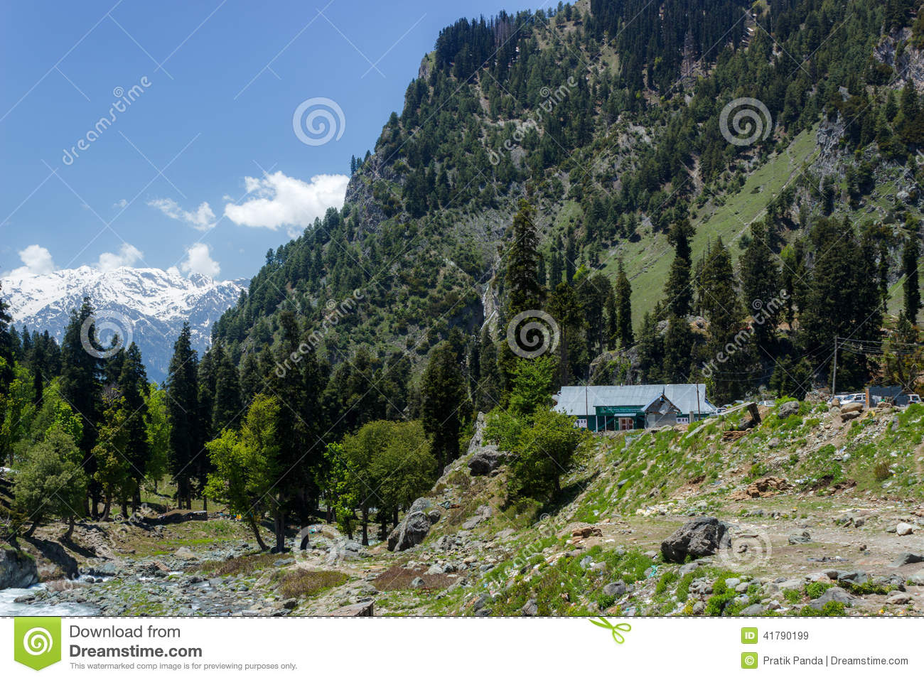 Living In The Himalayas, House In Kashmir Stock Photo ...