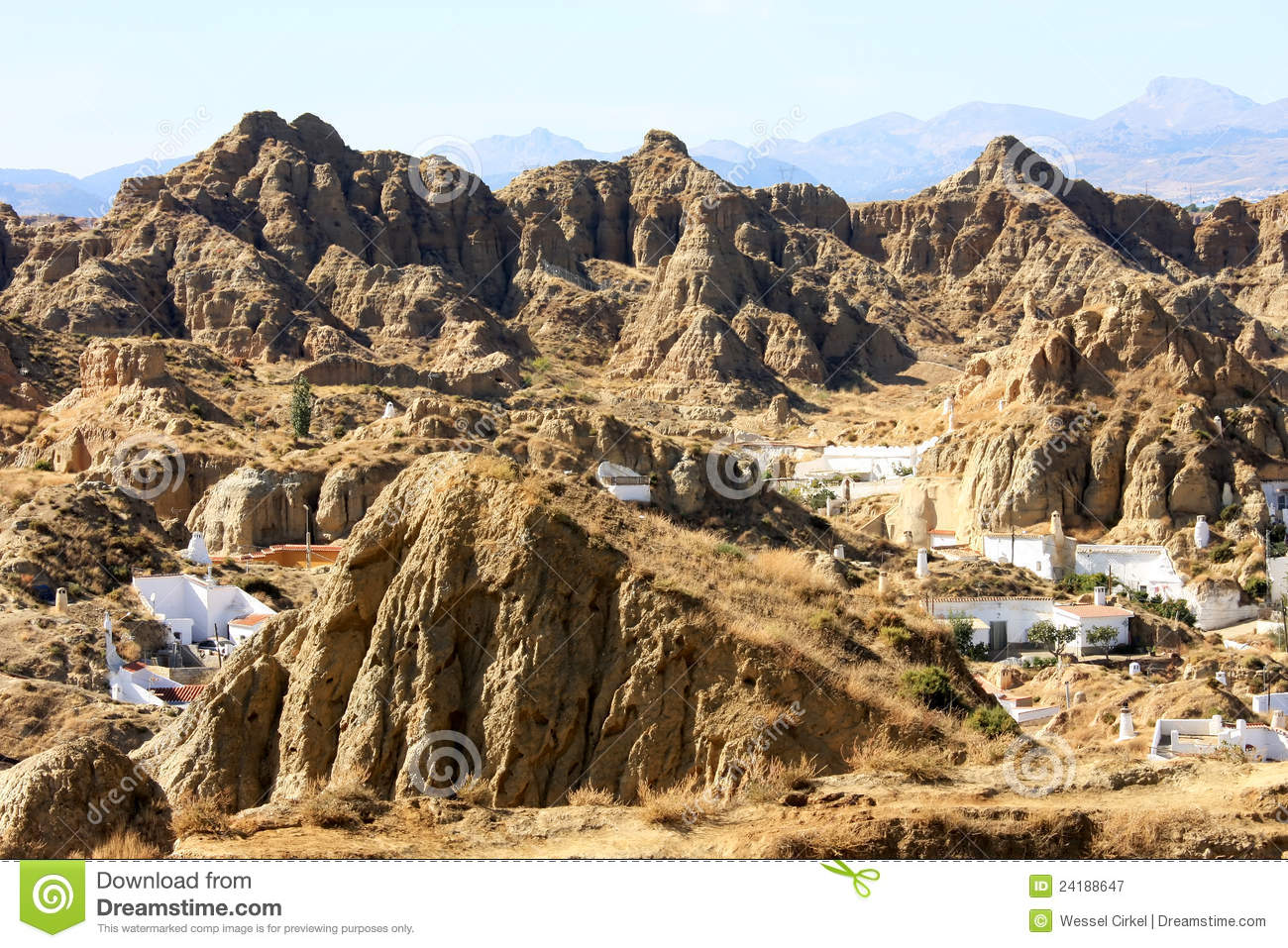 Living in the mountains andalusian guadix spain stock for Living on a mountain