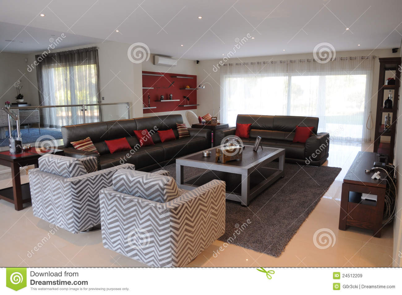 Modern living room stylish parlor luxury home stock for Parlor or living room