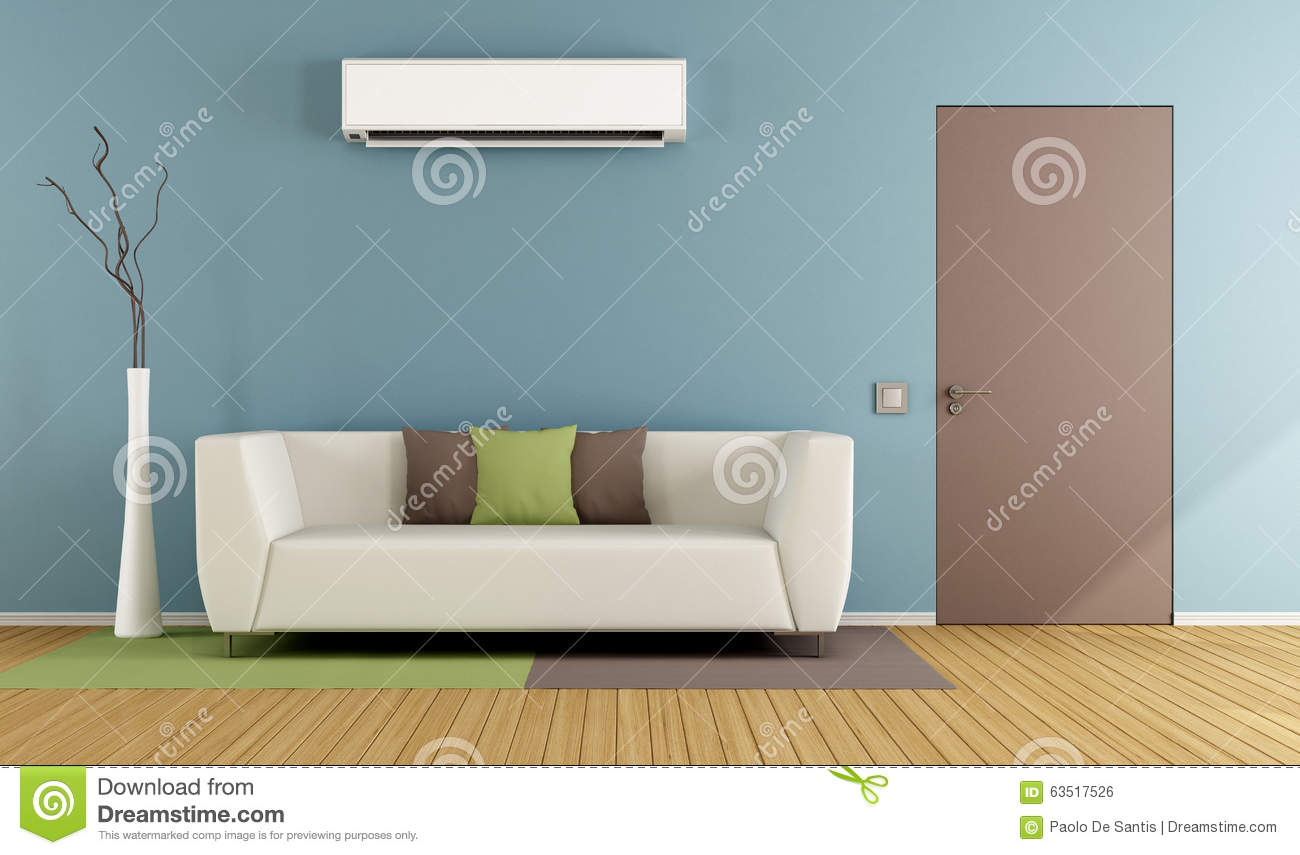 Royalty Free Illustration. Download Living Room With Air Conditioner ... Part 20