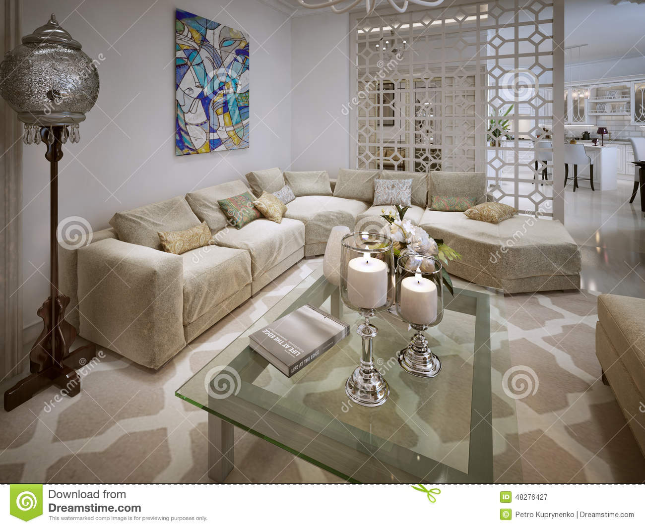 Living Room Arabic Style Stock Illustration Image 48276427