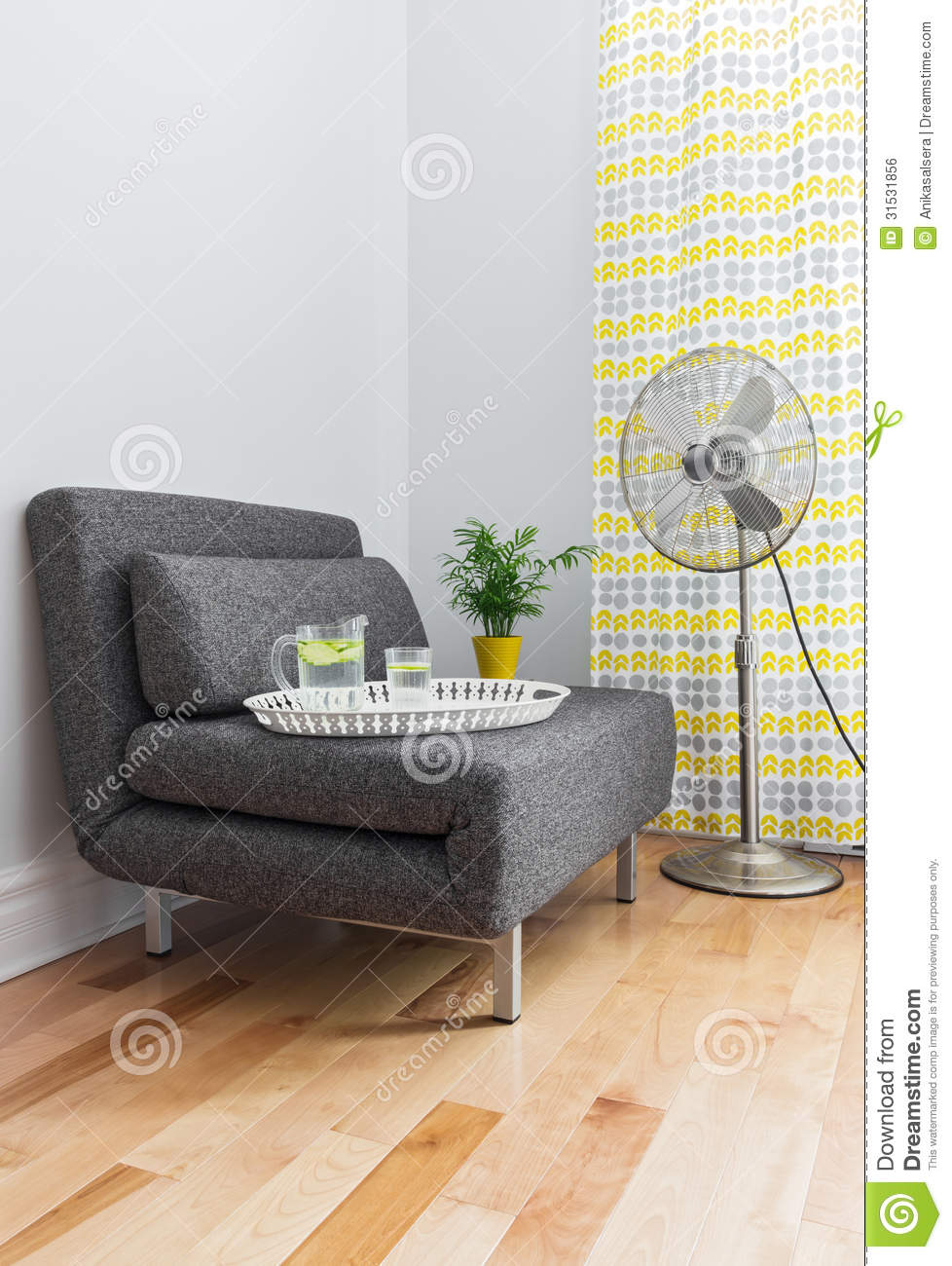 Armchair Contemporary Electric Fan Living Room