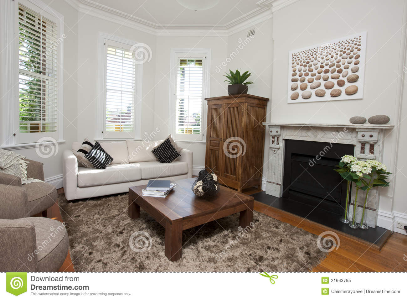 Modern Living Room Art Royalty Free Stock Photo Image