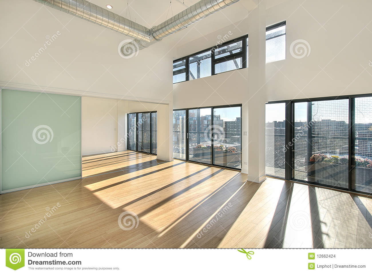 Living room with balcony view stock images image 12662424 for Balcony with view