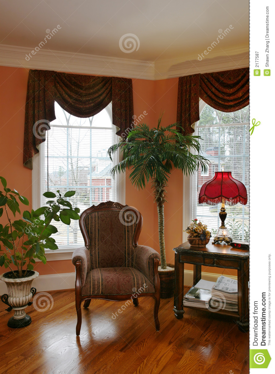 Living Room With Bay Window Royalty Free Stock Photography Image 2177587
