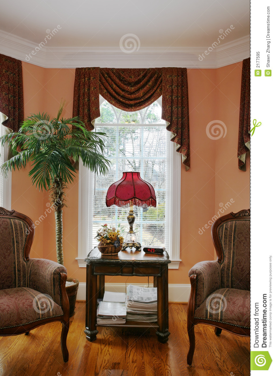 Living room with bay window stock image image 2177595 - Living room with bay window ...