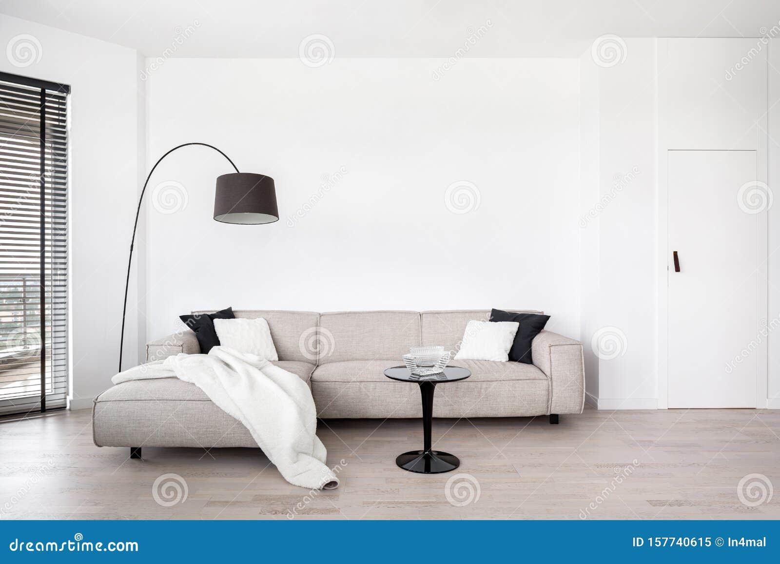 Corner Sofa With Coffee Table Stock Image - Image of corner ...