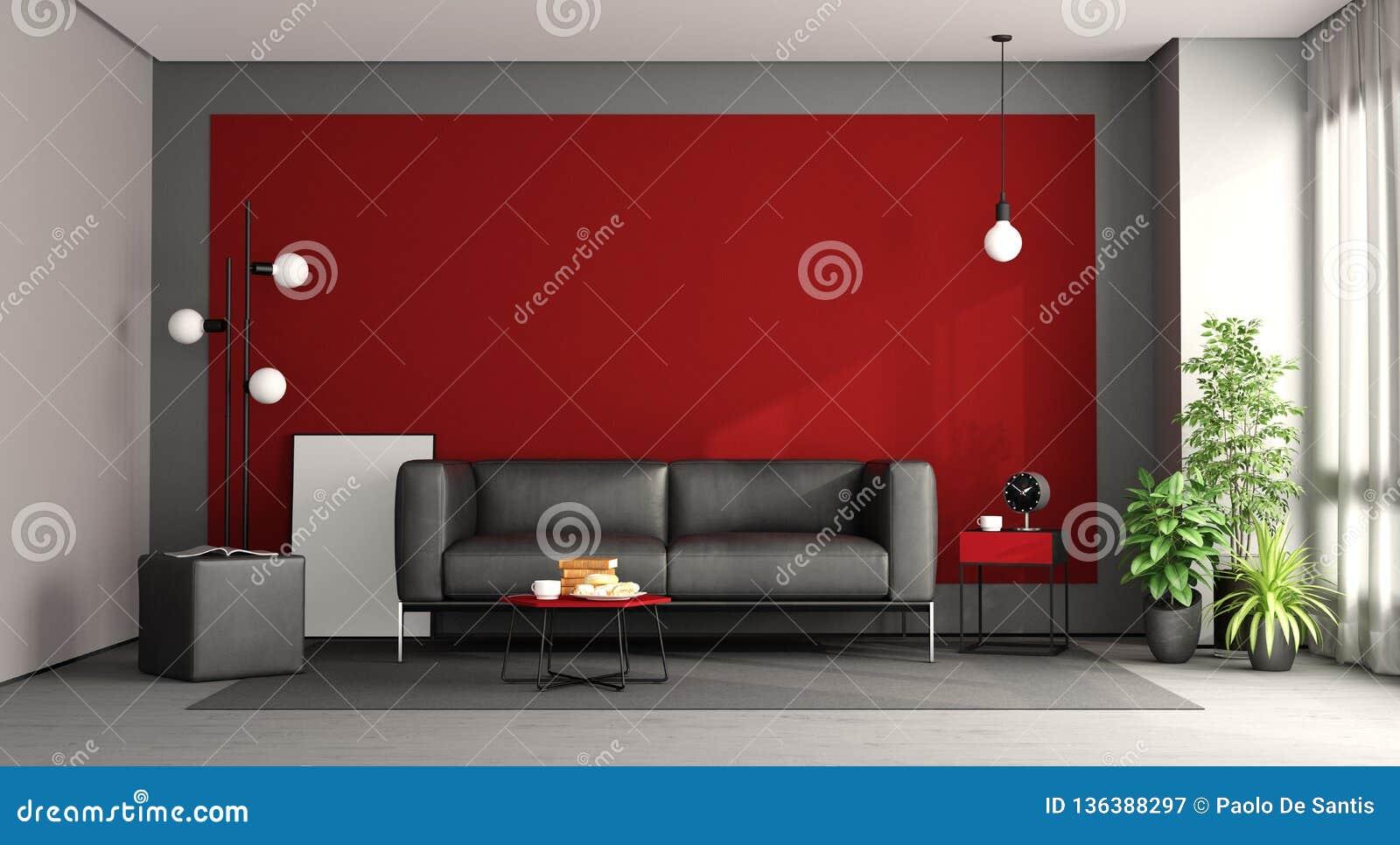 Wondrous Living Room With Black Sofa Stock Illustration Beatyapartments Chair Design Images Beatyapartmentscom