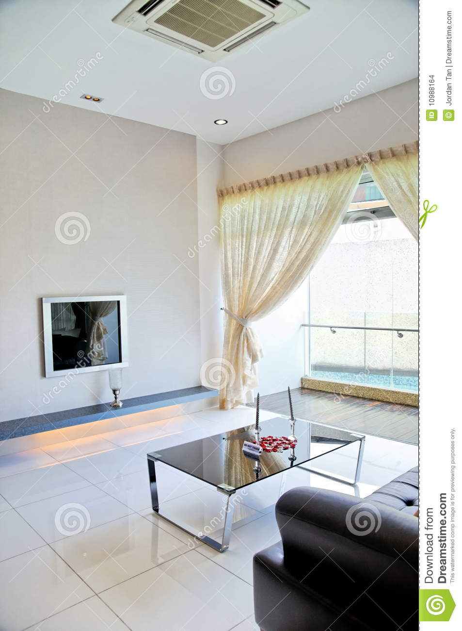 Living room with black and white color theme stock images - Living room black and white theme ...