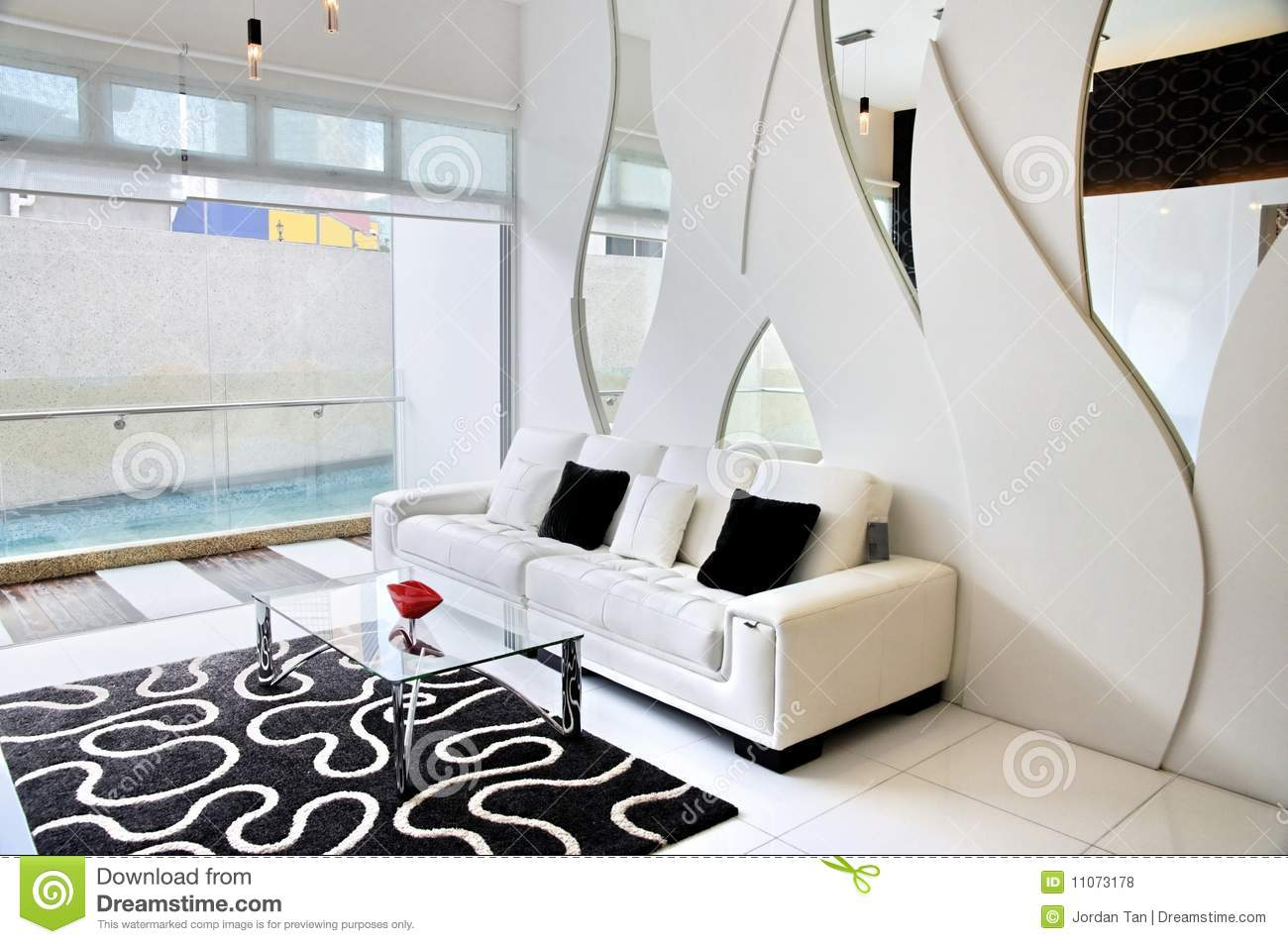 Living room with black and white theme royalty free stock - Living room black and white theme ...
