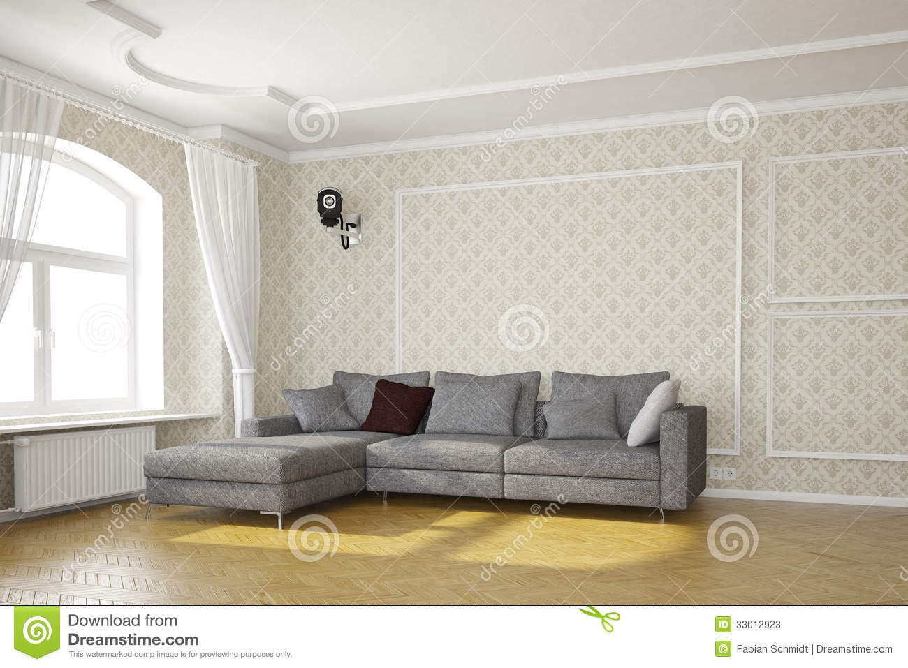 Living Room With Cctv Camera Stock Photos Image 33012923