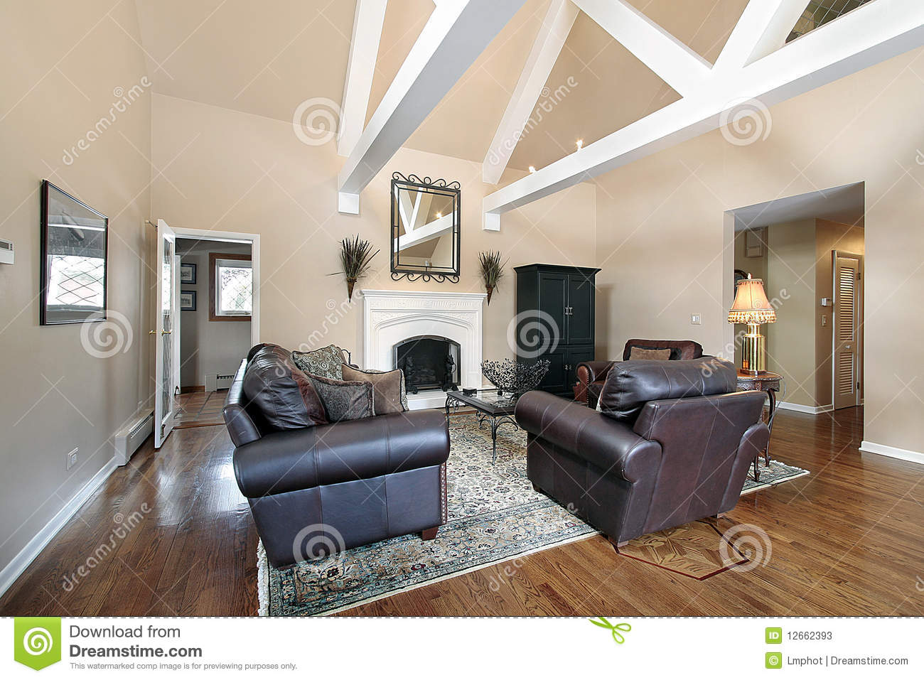 living room beams living room with ceiling beams stock image image 12662393 10883