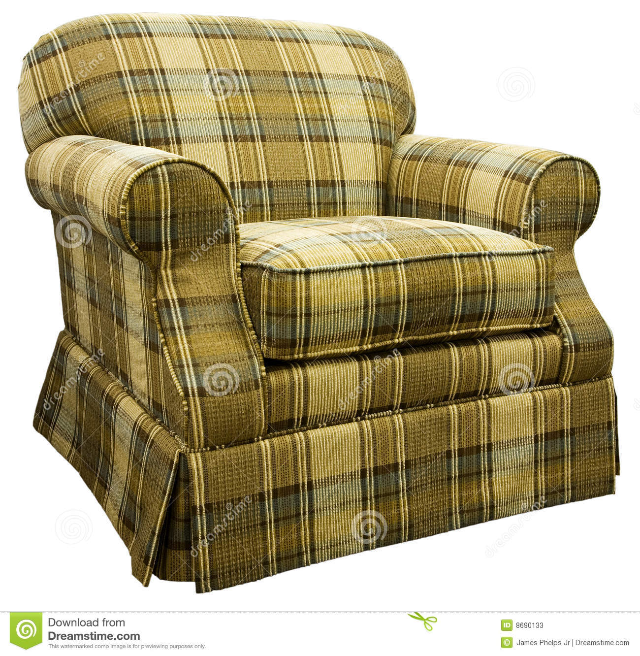 Plaid traditional living room chair with skirt - Plaid Living Room Chairs Modern House