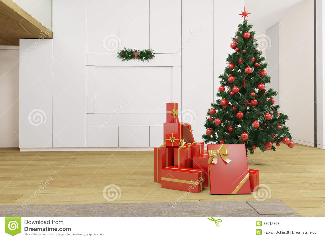 Christmas Tree Living Room living room with christmas tree royalty free stock photos - image