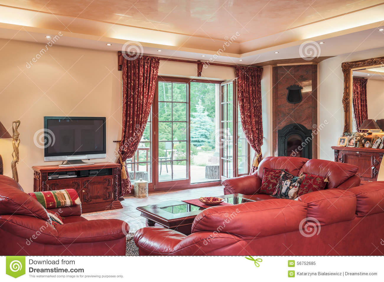 living room in colonial style stock photo image 56752685