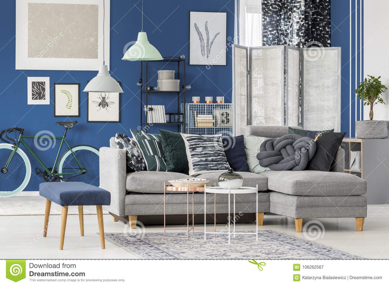 Admirable Living Room With Corner Sofa Stock Image Image Of Home Pdpeps Interior Chair Design Pdpepsorg