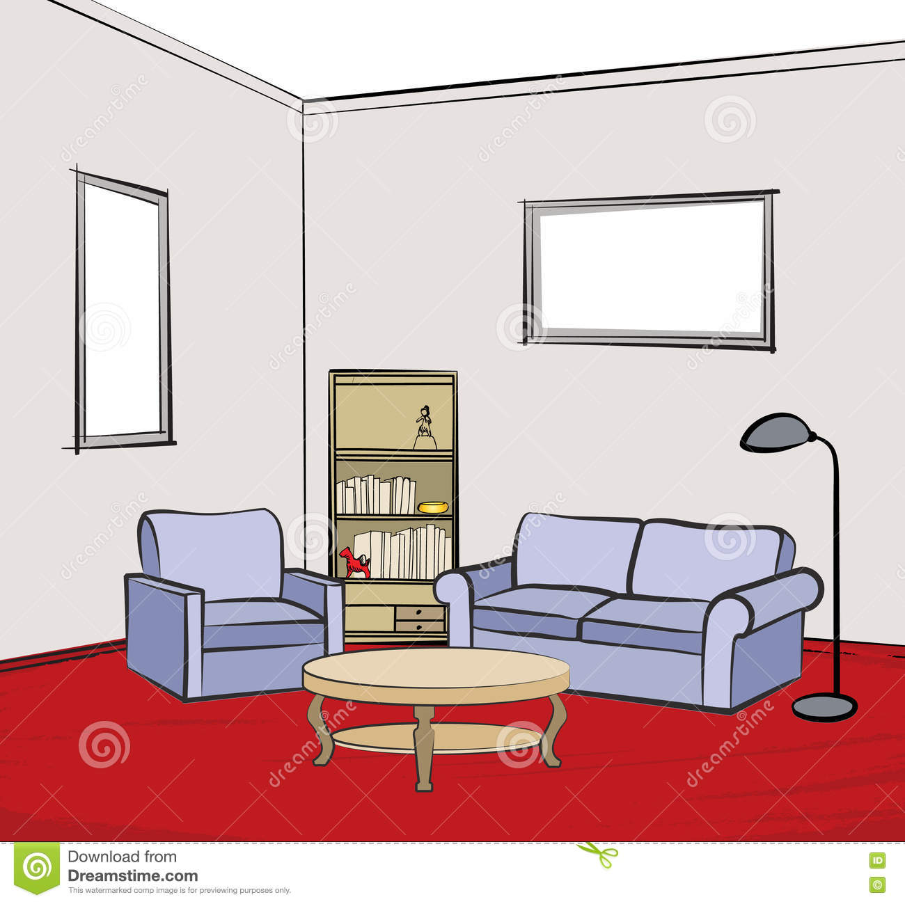 Living room interior design infographic template vector for Furniture templates for room design