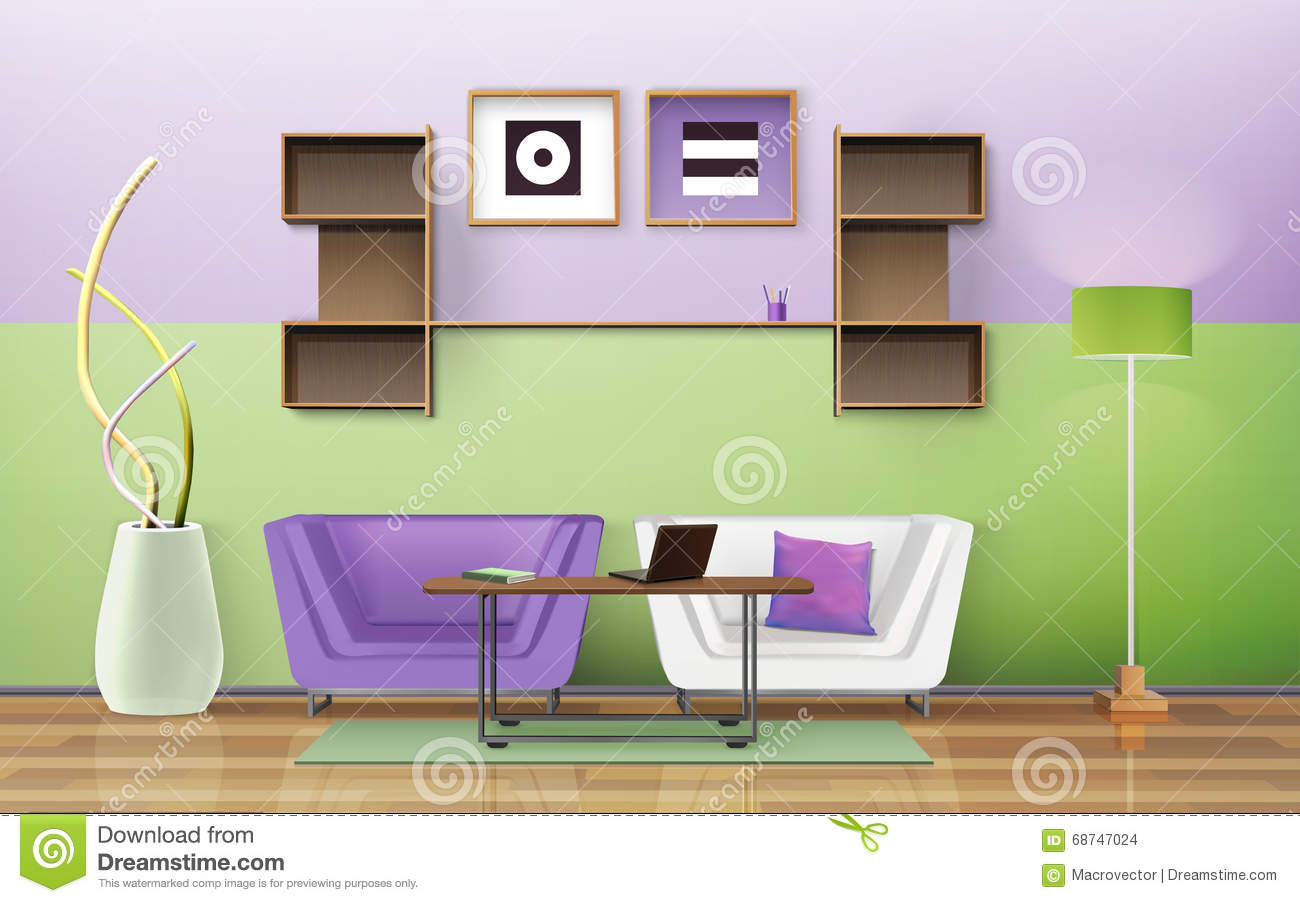 Living room design stock vector image 68747024 for Room design vector