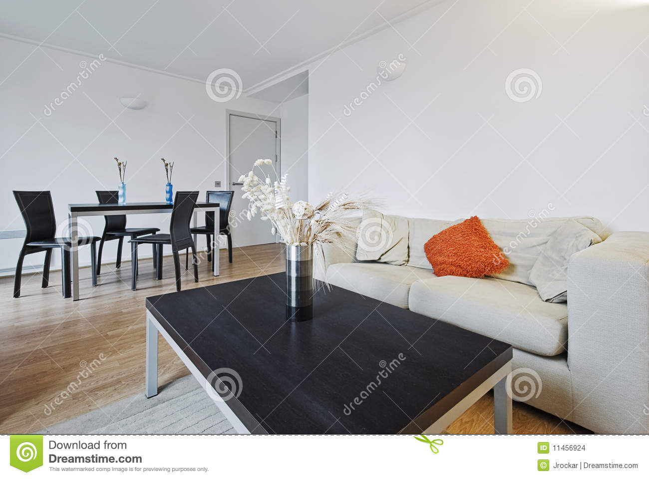 living room with dining table stock images image 11456924