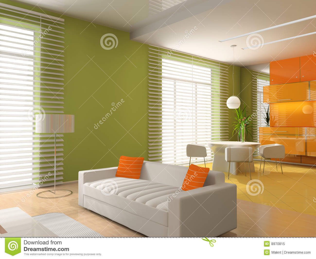Living a room with a dining zone royalty free stock photo for Living room zones