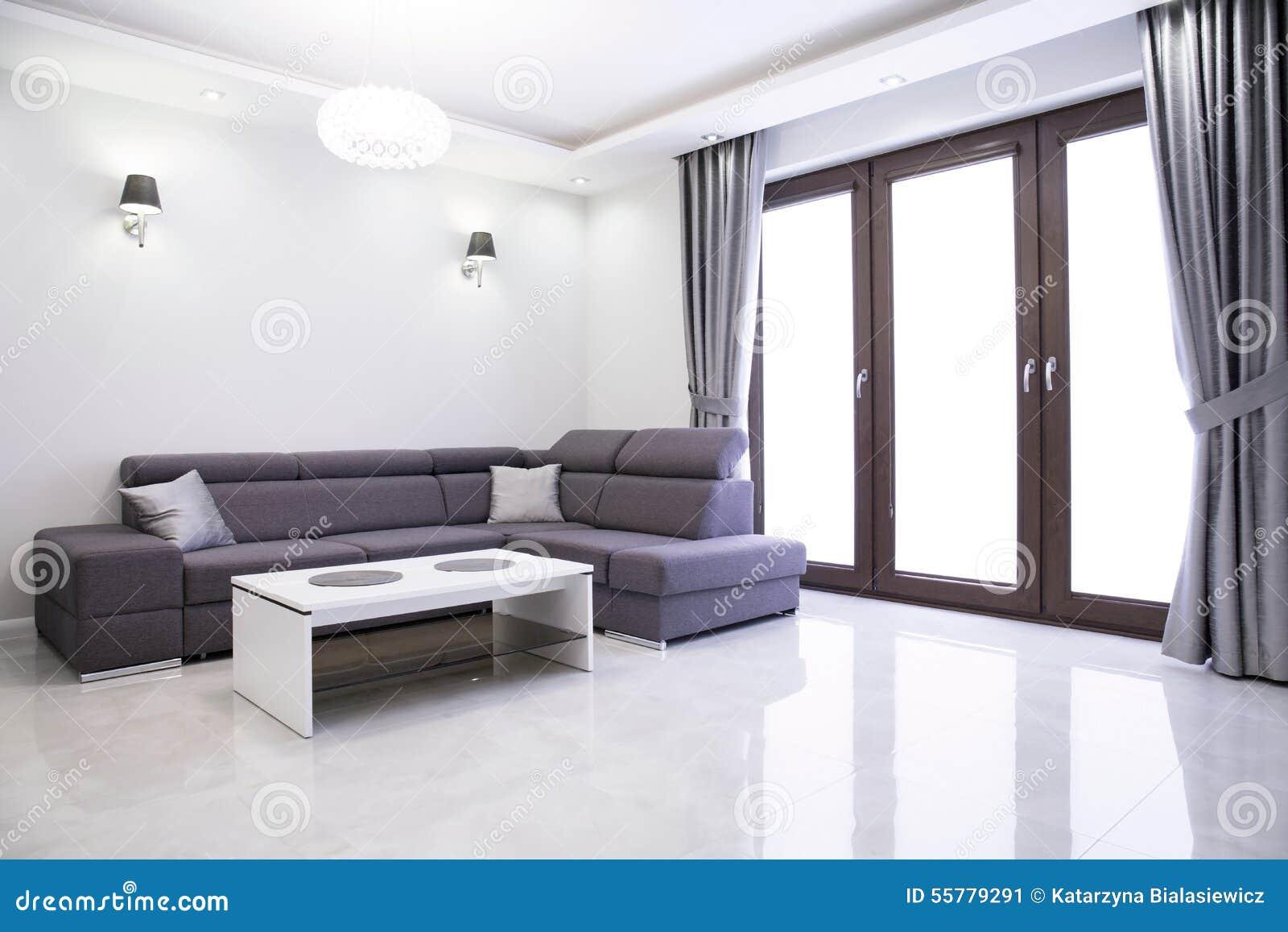 Living Room With Elegant Sofa Stock Image Image 55779291