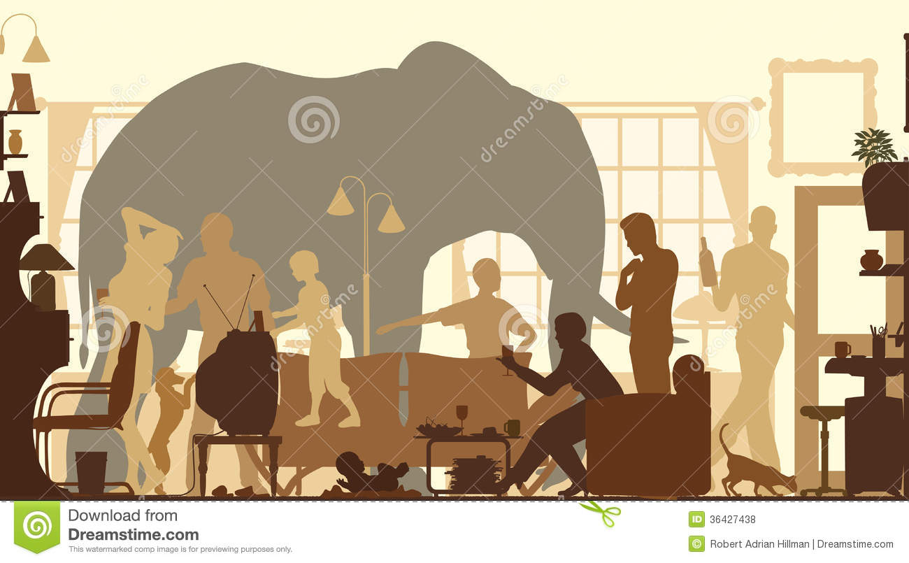 Living room elephant stock vector image of interior - The elephant in the living room full movie ...