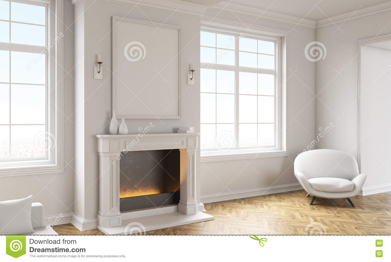 Frame For Living Room Living Room With Empty Frame Stock Illustration Image 74443364