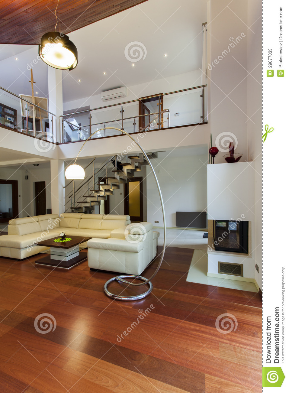 Living Room And Entresol Stock Image Image Of Plain
