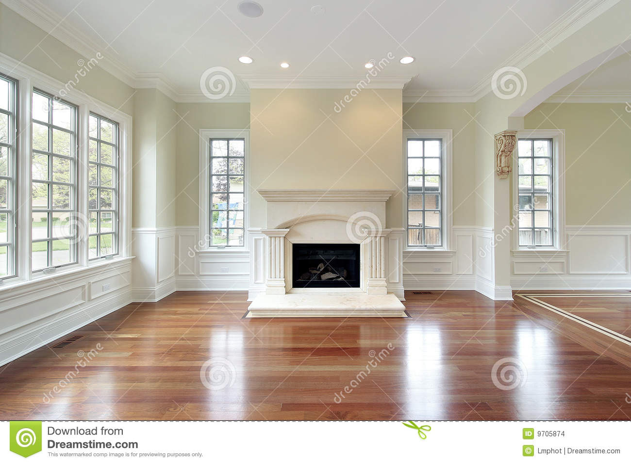 Living room with fireplace stock photo. Image of floor - 9705874