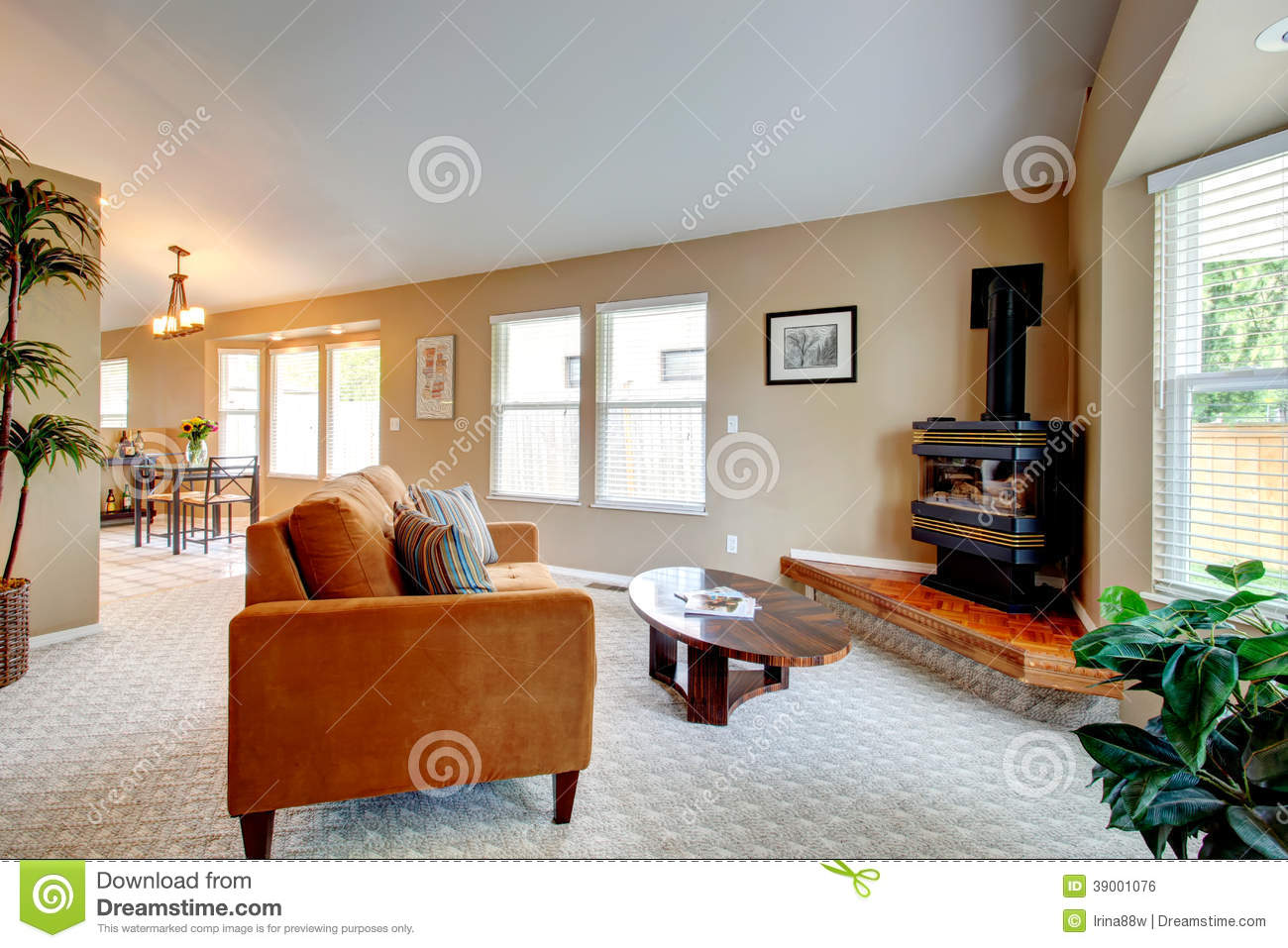 Living room with freestanding stove in corner stock photo image 39001076 Living room ideas with stoves