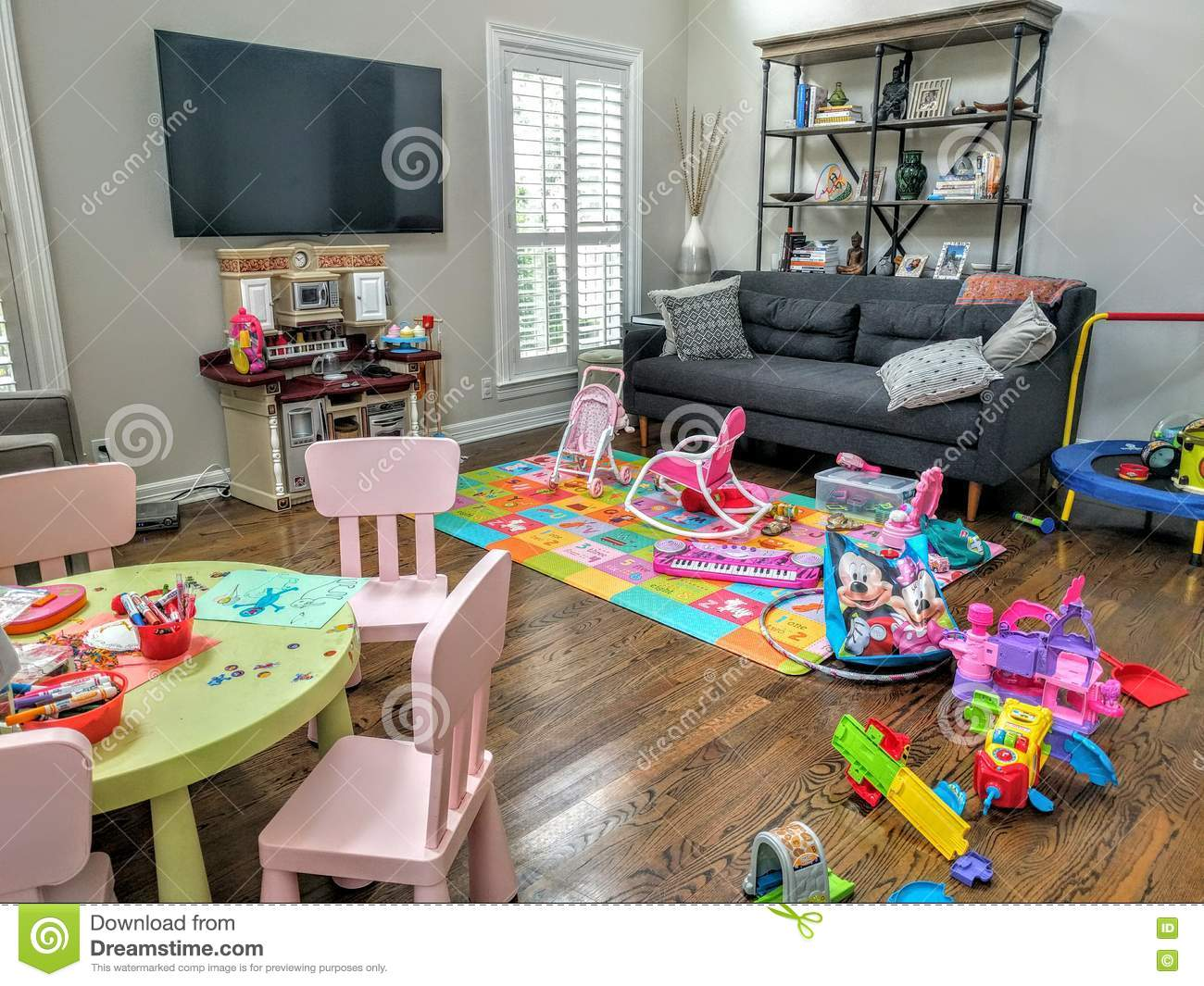 living room kids living room of toys editorial image image of 11662