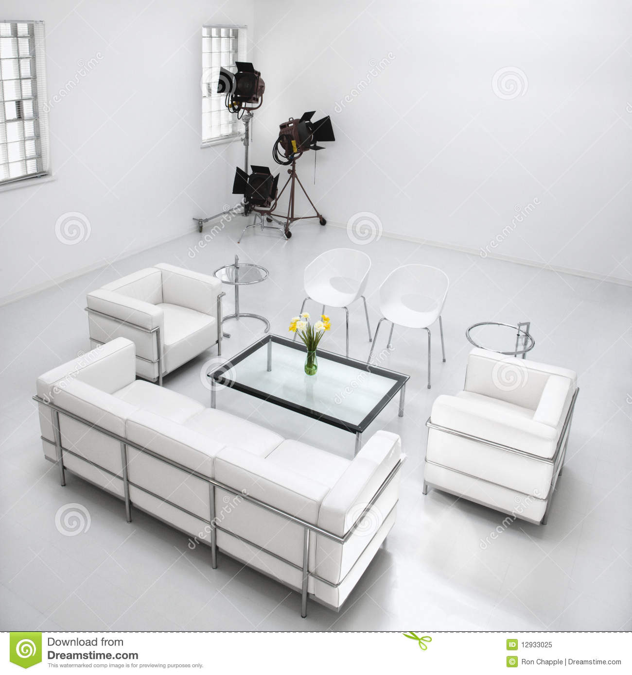 Studio Living Room Furniture Living Room Furniture In Photography Studio Royalty Free Stock