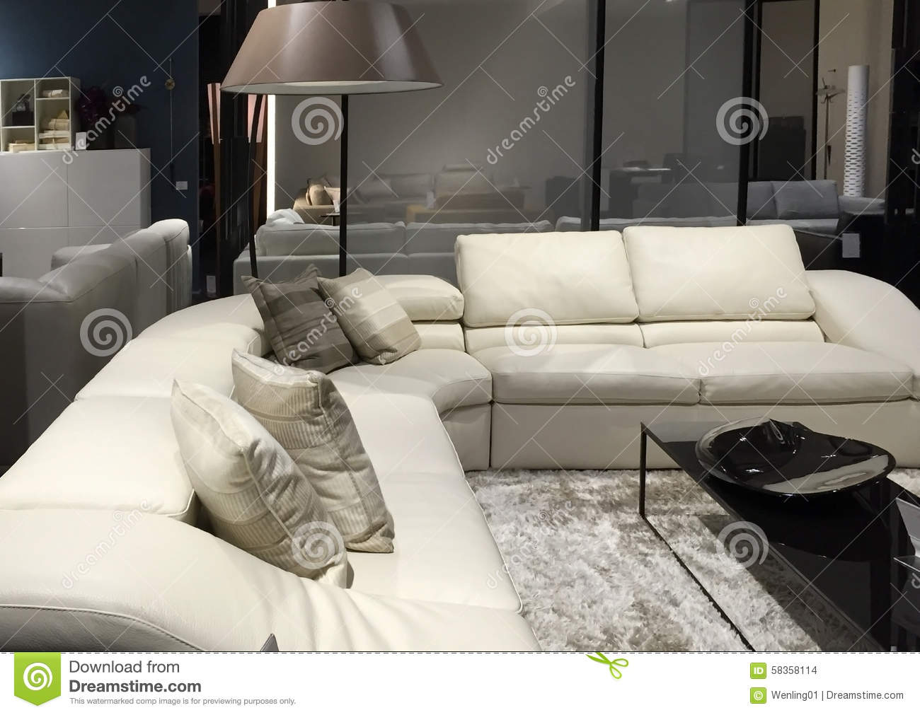 Living Room Furniture Selling Stock Photo Image 58358114