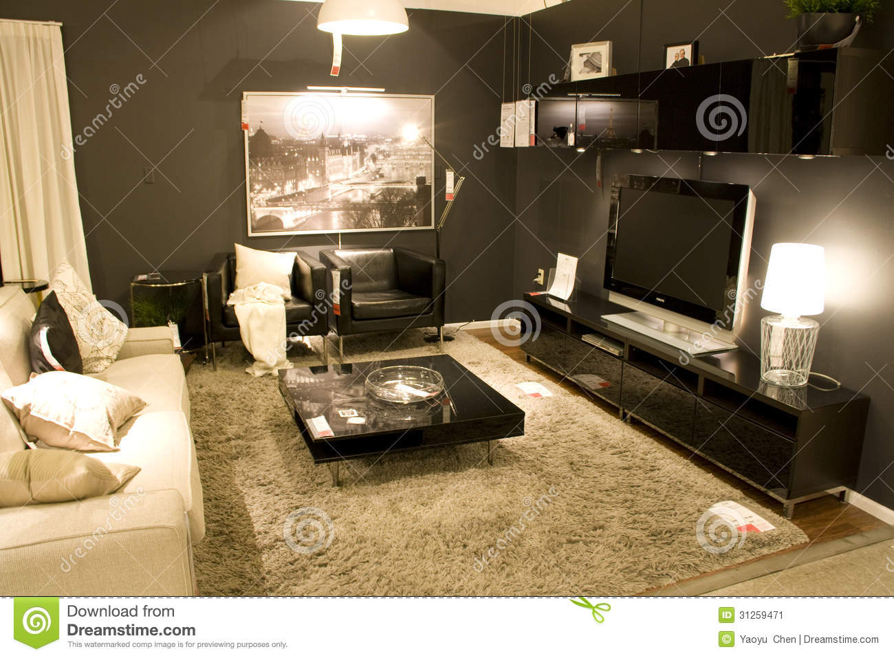 living room furniture store editorial photo image 31259471. Black Bedroom Furniture Sets. Home Design Ideas