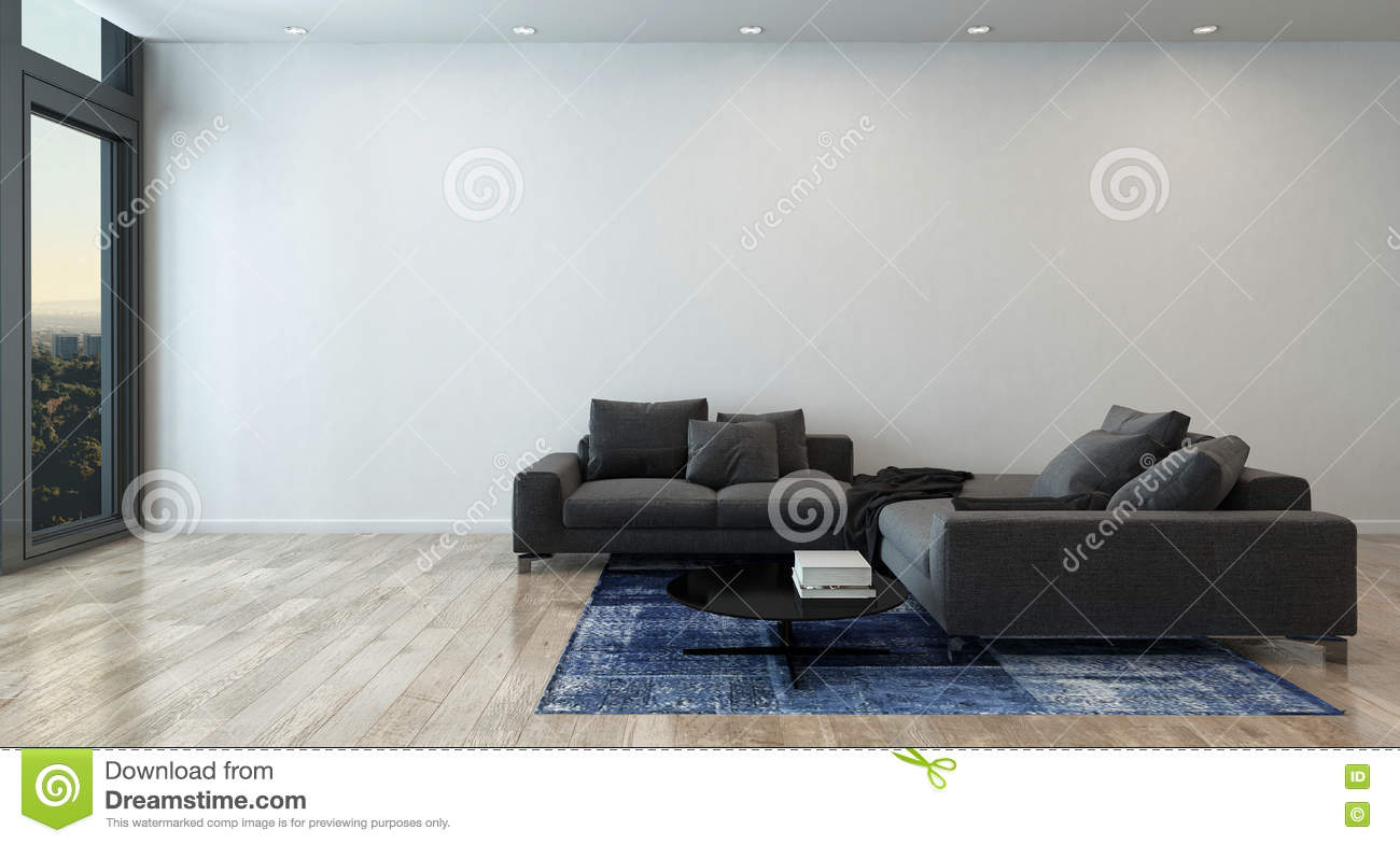 Swell Living Room With Gray Sofa In Modern Apartment Stock Photo Ibusinesslaw Wood Chair Design Ideas Ibusinesslaworg