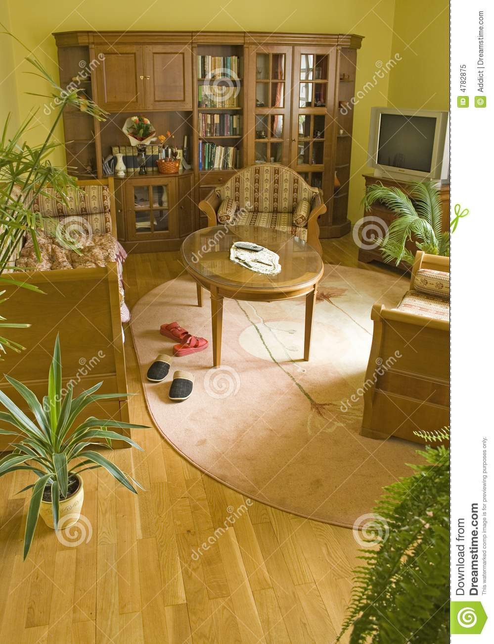 Royalty Free Stock Photo Download Living Room With Green Plants