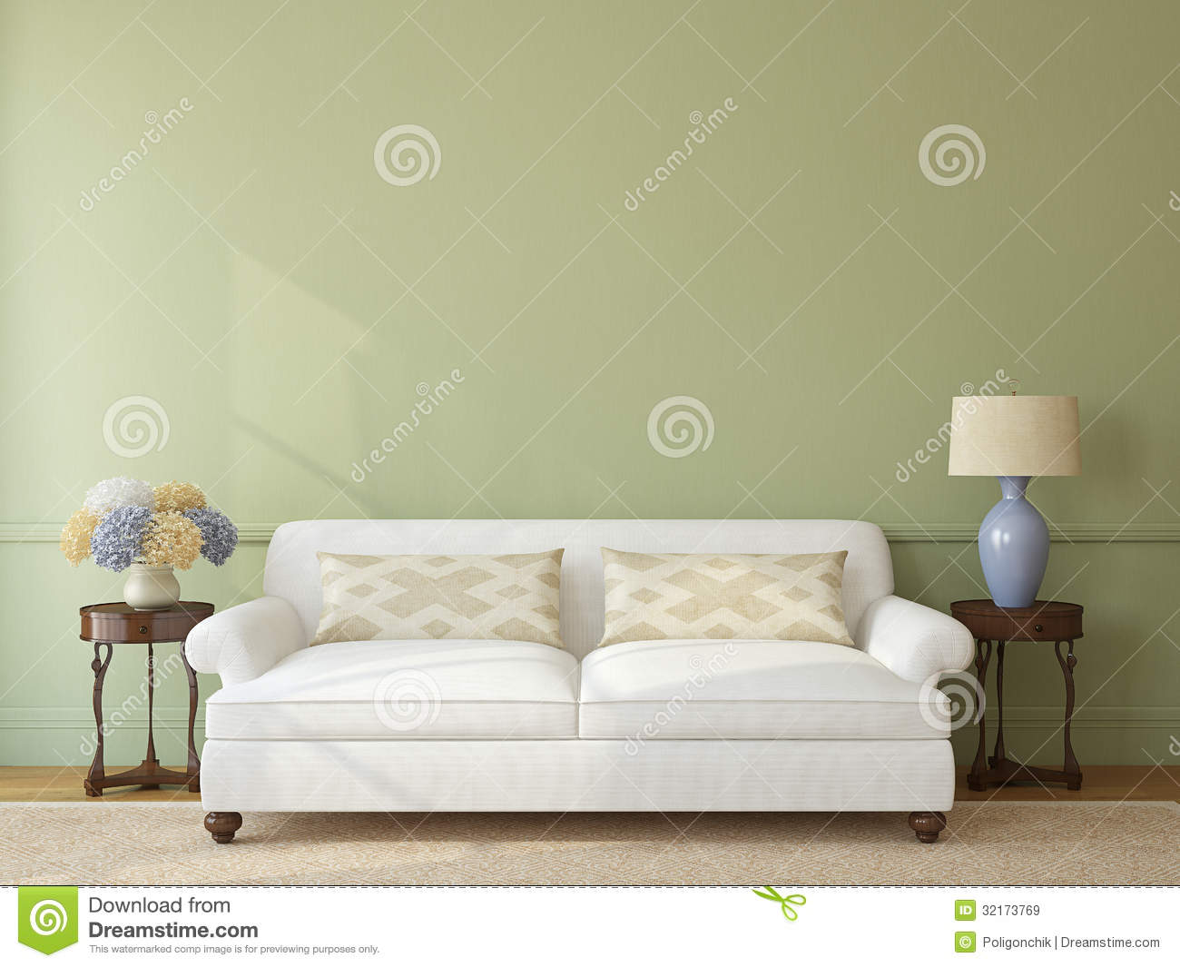 Living Room Interior Stock Illustration Image Of Sofa