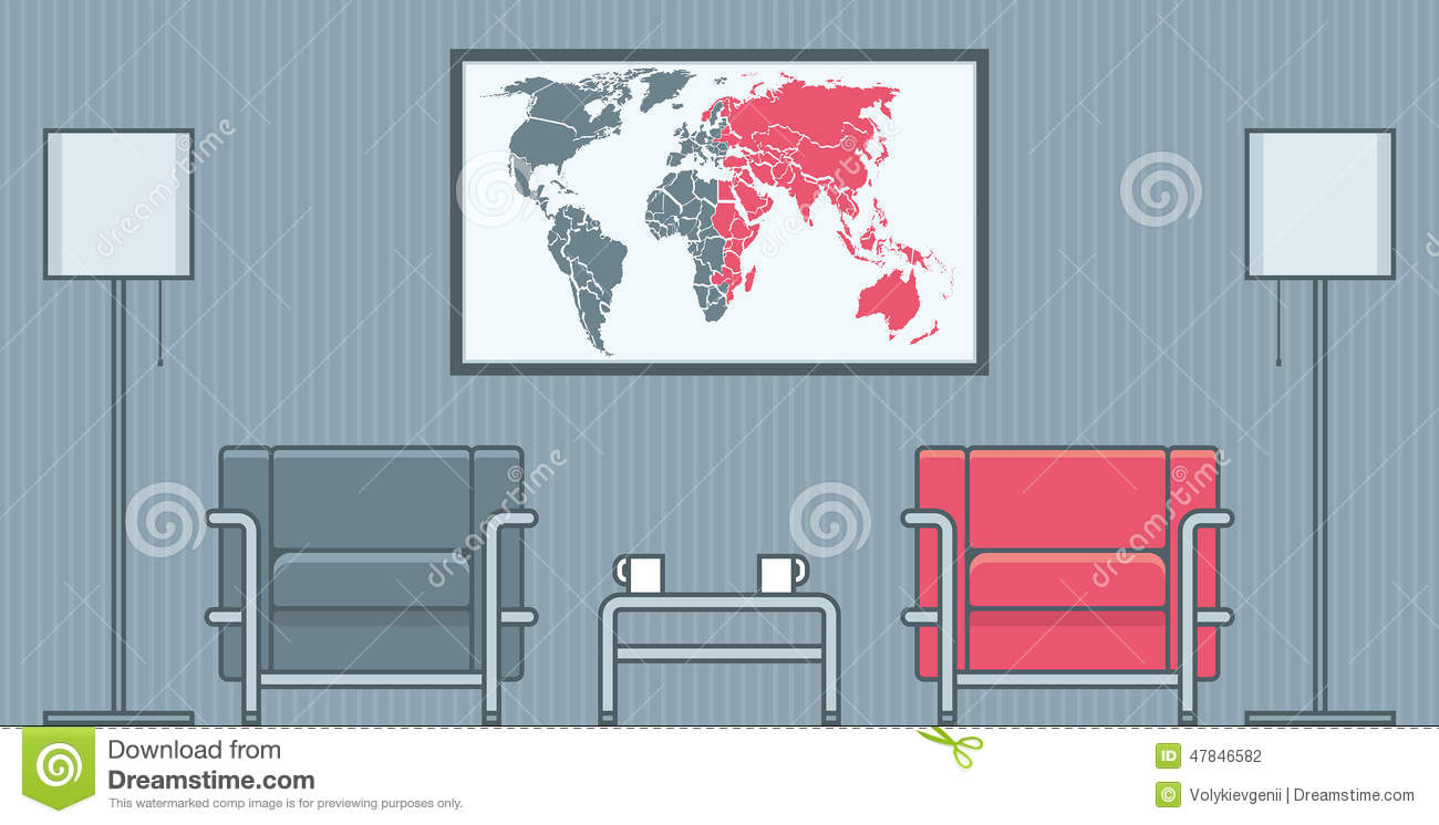 Living Room Stock Vector Image 47846582