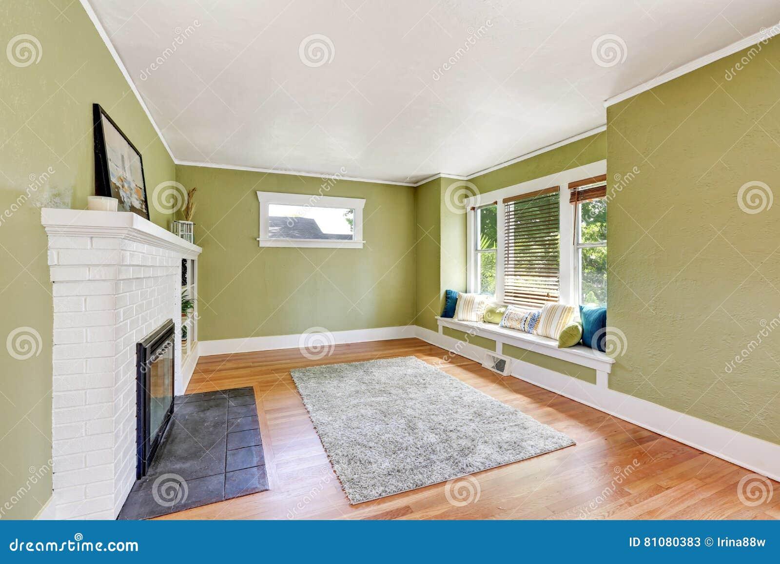 Living Room Interior Design Of Craftsman House Stock Photo
