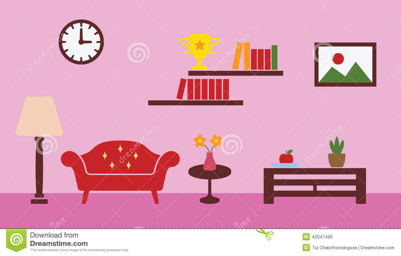 Living room stock vector image 42047499 for Room design vector
