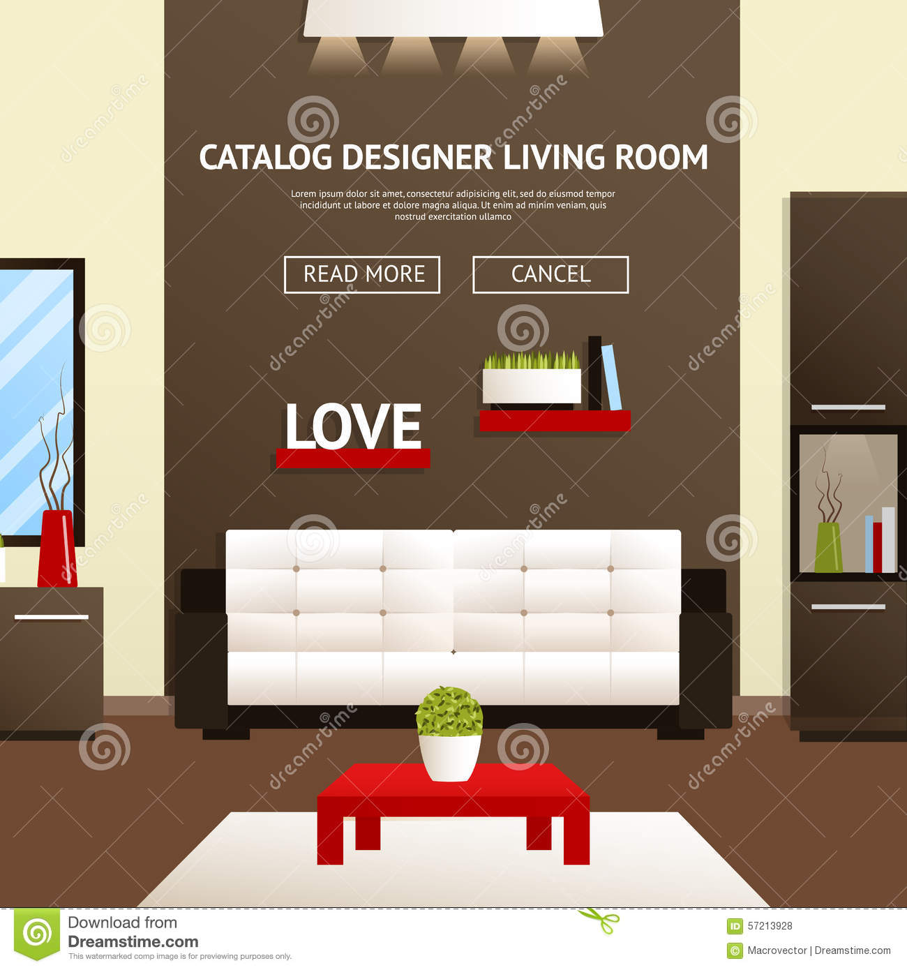 Living room interior for Furniture templates for room design