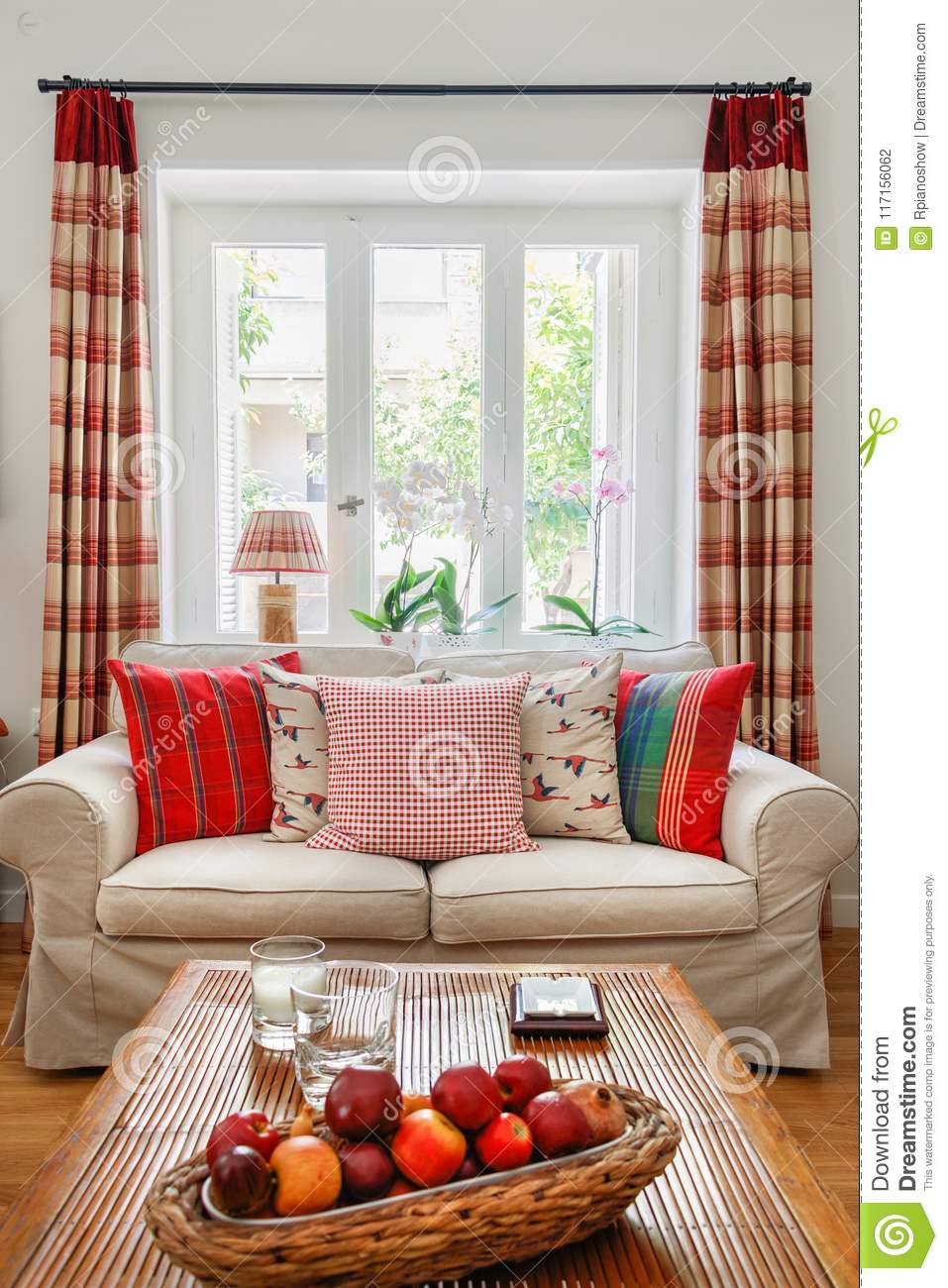 Living Room Interior, English - Country Syle. Stock Photo ...