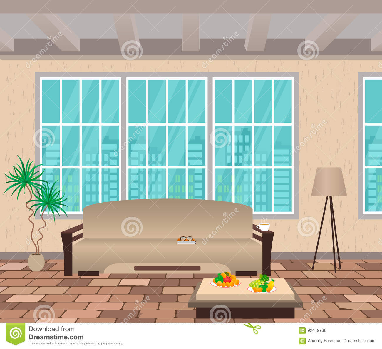 Vintage window interior design royalty free stock photo for Window design cartoon