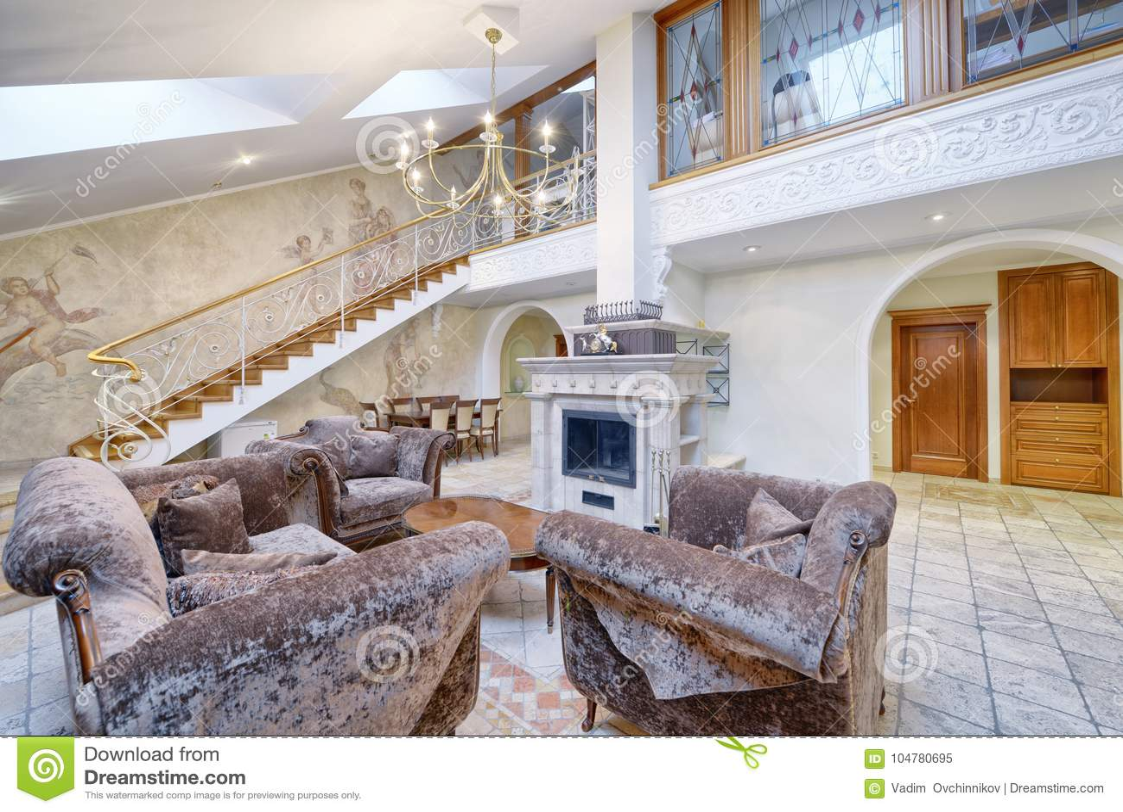Fantastic Living Room Interior In Modern House Stock Image Image Of Interior Design Ideas Truasarkarijobsexamcom