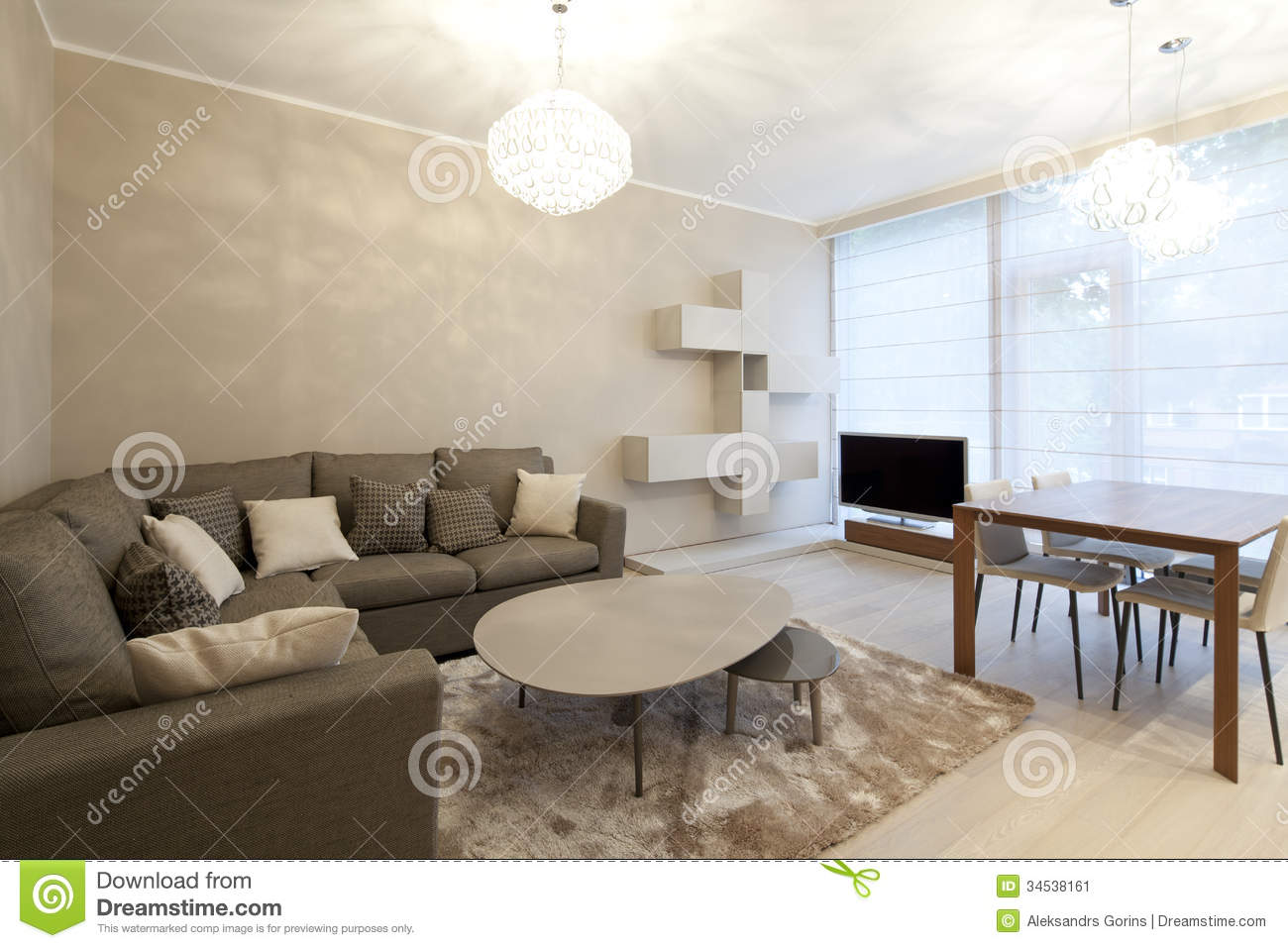 Living room stock image image 34538161 for New style drawing room