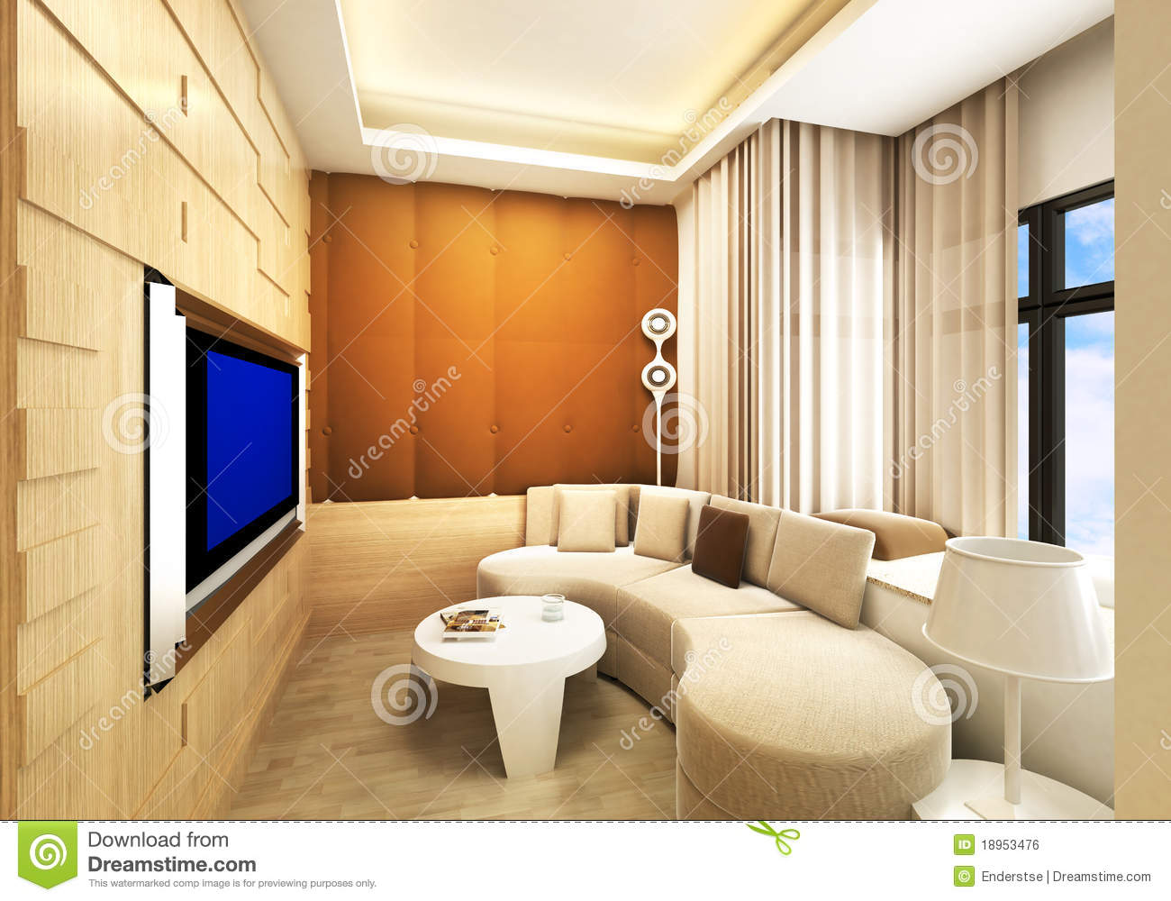 Living Room Karaoke Room Royalty Free Stock Image Image 18953476