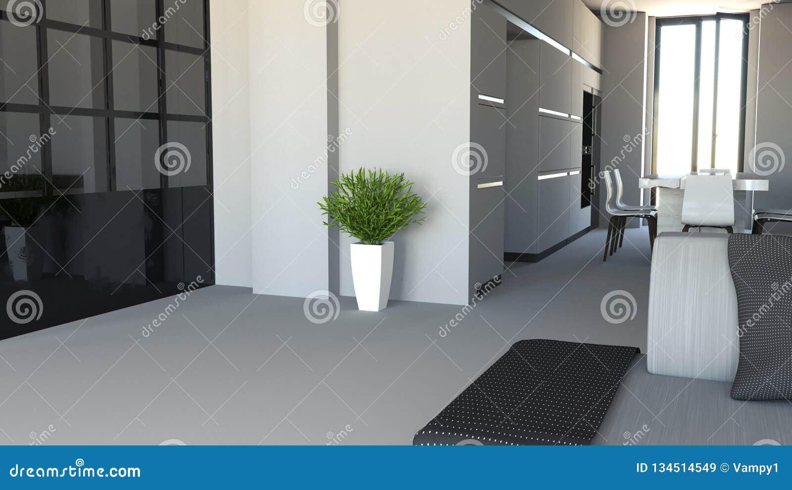 Living Room And Kitchen Furniture Interior Design