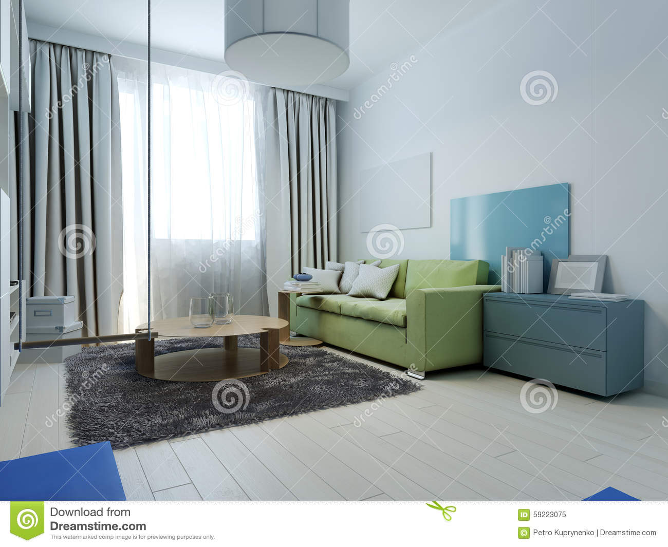 Living Room Kitsch Style Royalty Free Stock Photo
