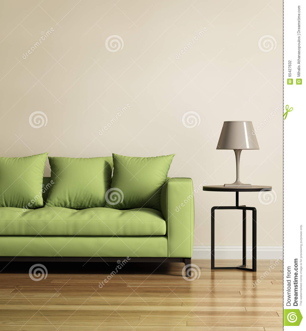 39 Living Room Ideas With Light Brown Sofas Green Blue: Living Room With A Light Green Sofa Stock Photo
