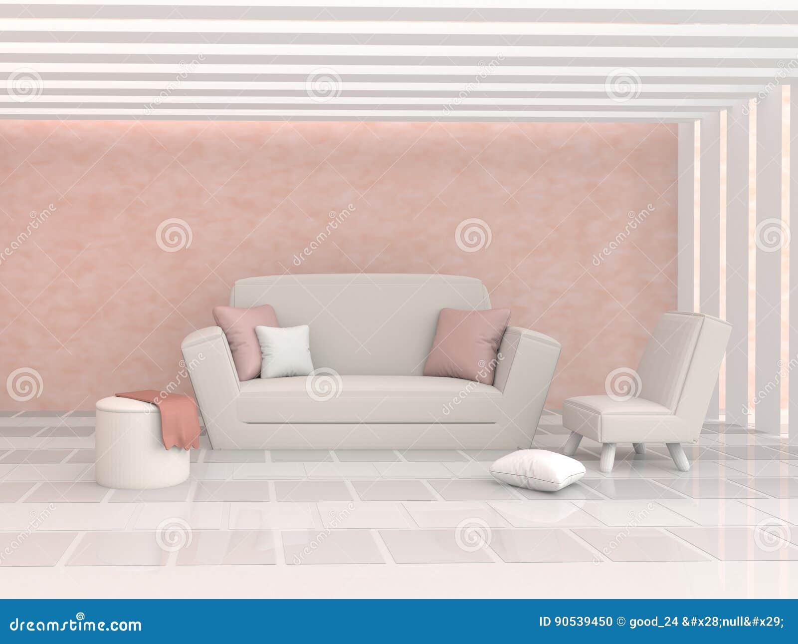 The Living Room In Lovely Day Interior Design